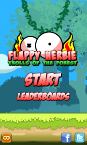 Flappy Herbie main screen